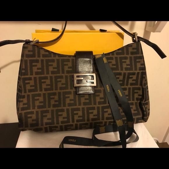df0d04d7d2 Fendi Handbags - 💯% Authentic Fendi Zucca Shoulder Handbag